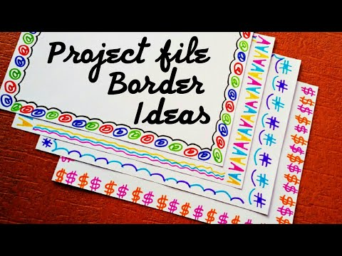How to decorate project file border | How to decorate project file pages | Borders and frames design