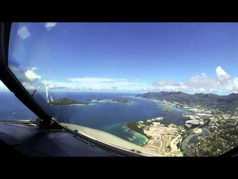 Landing At Seychelles Island
