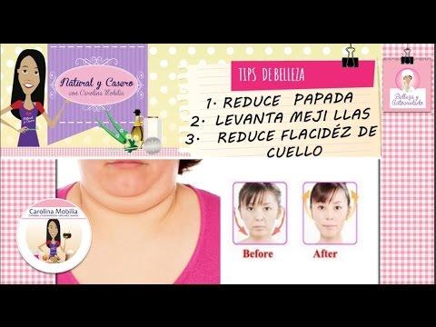 Como reducir papada, tonificar  cuello y adelgazar rostro