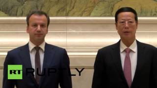 China: Russian-Chinese bilateral commission holds energy talks