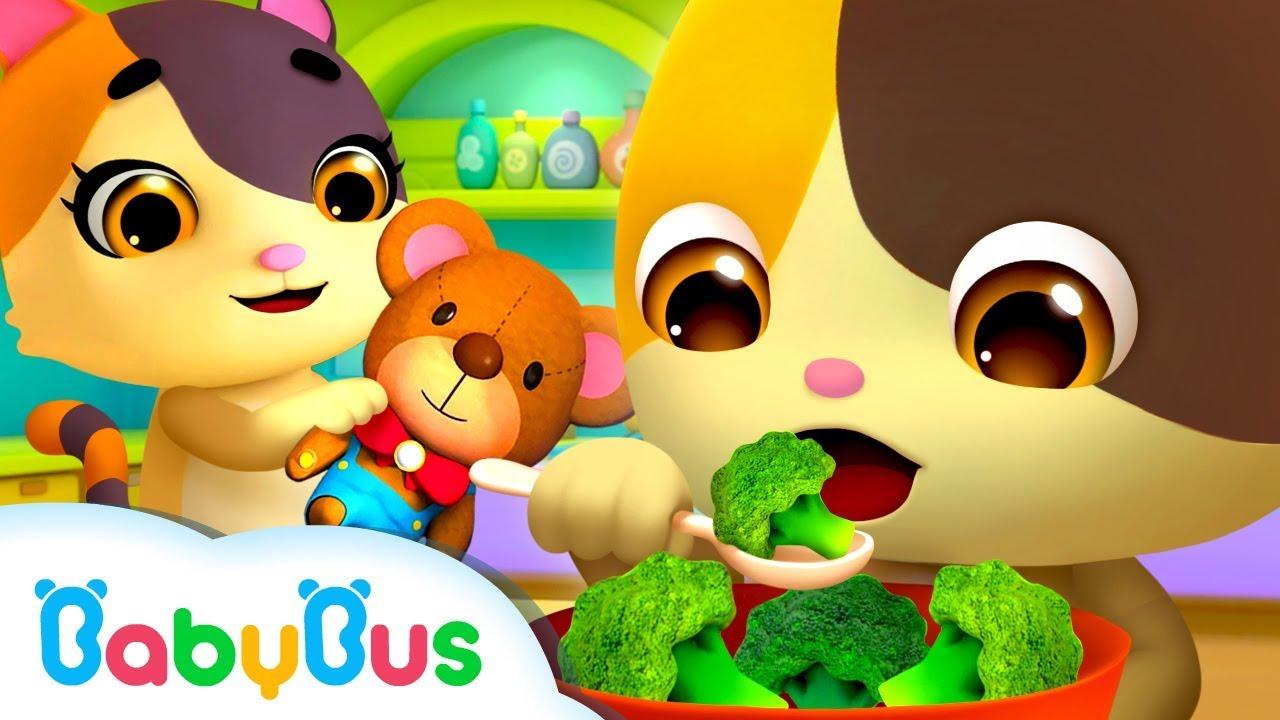 Yes Yes Vegetables Song | Bath Song, Baby Shark | Nursery Rhymes | Kids Songs | BabyBus