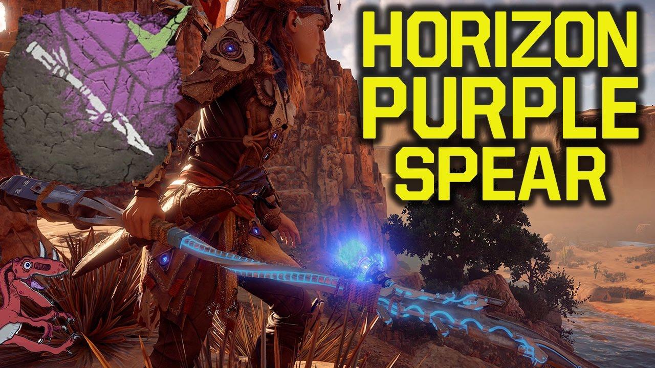 Horizon Zero Dawn Tips - How to get the PURPLE SPEAR (Horizon Zero Dawn  gameplay PS4 pro)