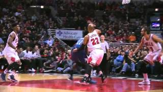 Andrew Wiggins spin move against Bulls (7/11/2015)