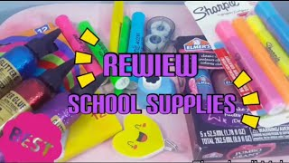 Reviewing all the SCHOOL SUPPLIES!! I got from Target ☺