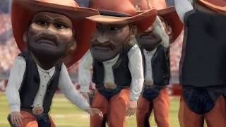 NCAA Football 13 Mascot Mashup Gameplay Alabama Crimson Tide vs Oklahoma State Cowboys