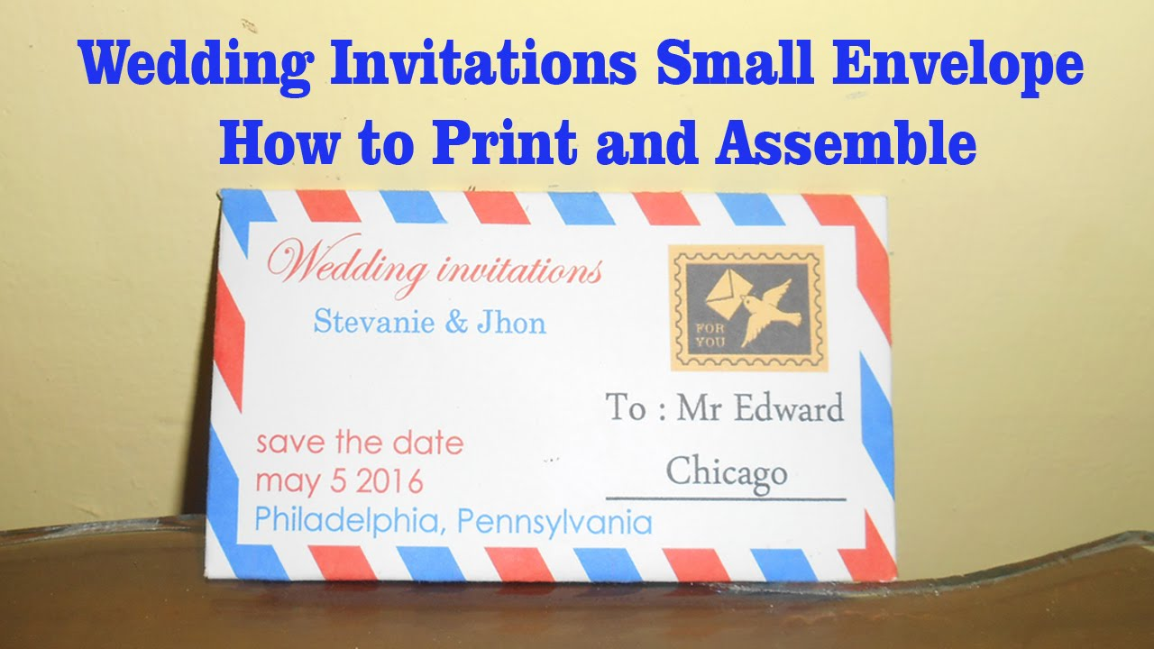 wedding invitations small envelope how to print and assemble youtube - How To Assemble Wedding Invitations
