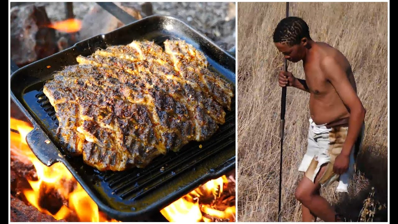 Cooking Porcupine HUNT AFRICA! Kalahari Desert Bushcraft
