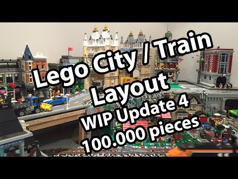 Lego Town-Train Layout WIP - Update 4 (100000 pieces update, with comments)