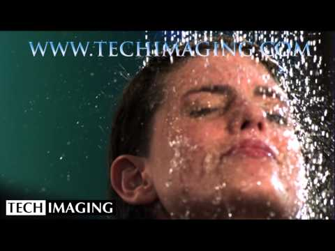 High Speed Camera Video - Woman in the shower