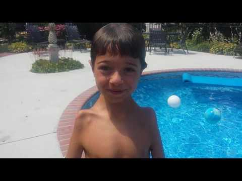 Swimming with Arthrogryposis! Bear age 7