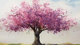 """Как рисовать вишневое дерево. Пропорции важны. how to draw the tree. Cherry tree(Показать свои работы и получить комментарии можно в группах на Фейсбуке: """"Art Class""""- https://www.facebook.com/groups/173264953152..., 2016-02-18T14:39:48.000Z)"""