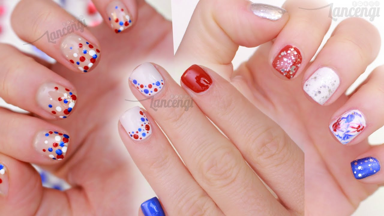 DIY Memorial Day Nail Art Three Cute Easy Designs CONTEST TIME