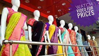 All Varieties of latest sarees collection with price and address / kuppadam / lenin / Jute sarees