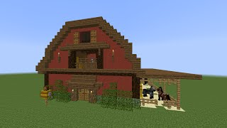 Minecraft Tutorial: How To Build A Barn