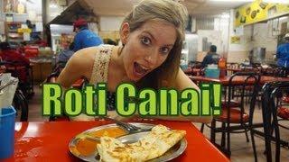 Eating Roti Canai near the Puduraya Bus Station (Restoran Anuja) in Kuala Lumpur, Malaysia