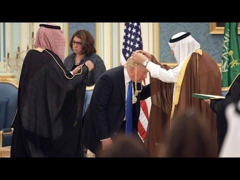 President Trump receives Saudi gold medal