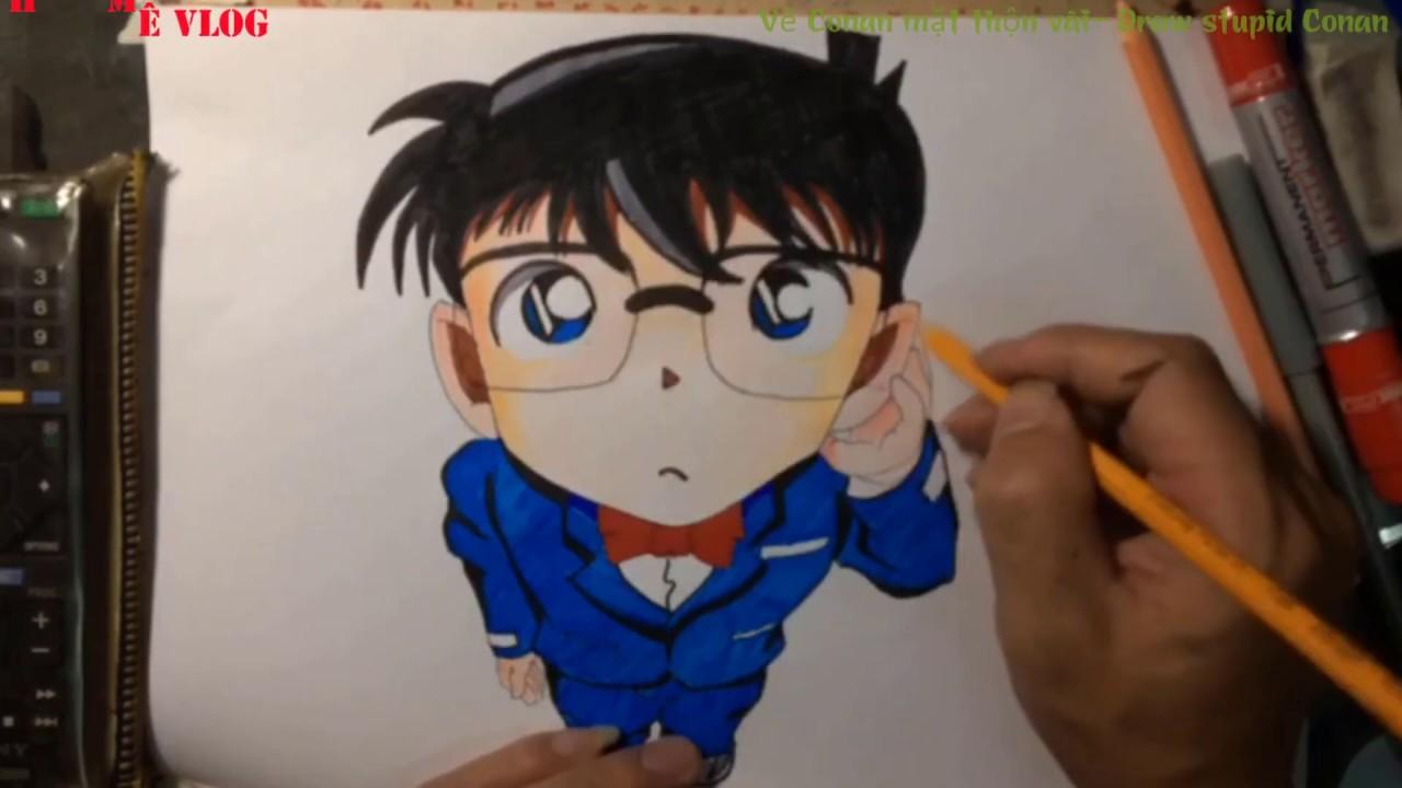 Vẽ Conan mặt thộn vãi- Draw stupid Conan(Ham Mê VLOG)