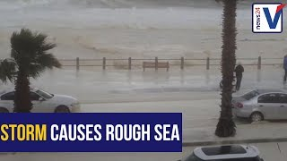 WATCH: Water spilling over into the main roads in Camps Bay