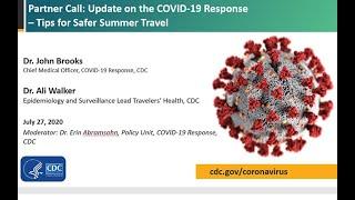 CDC COVID-19 Partner Update: Tips for Safer Summer Travel