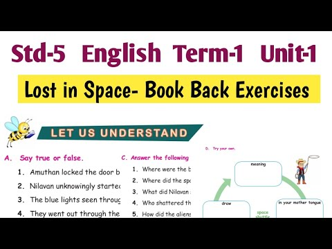 Download Lost in Space Book Back Question Answers   5th Std English Term 1 Unit 1