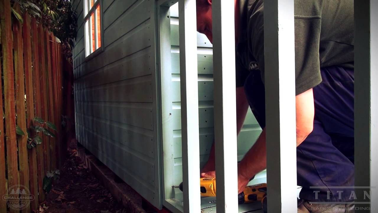 Summer house shed installation how to youtube asfbconference2016 Images