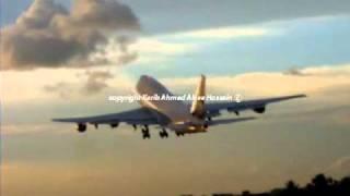 طائرة الخطوط السعودية تقلع بصعوبةSaudia 747 300 و الكابتن البلوي ينقذ الطائره