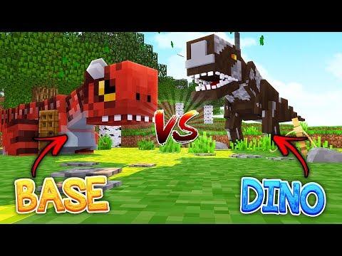 MINECRAFT BASE VS DINOSAURS! Minecraft Secure Base Challenge