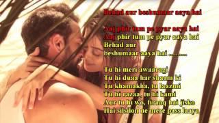 Aaj Fir Tumpe Pyar Aaya Hai (HATE STORY-2) KARAOKE Created by SANDEEP SINGH BAJAJ