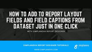 How to add to Dynamics NAV report Layout Fields And Field Captions