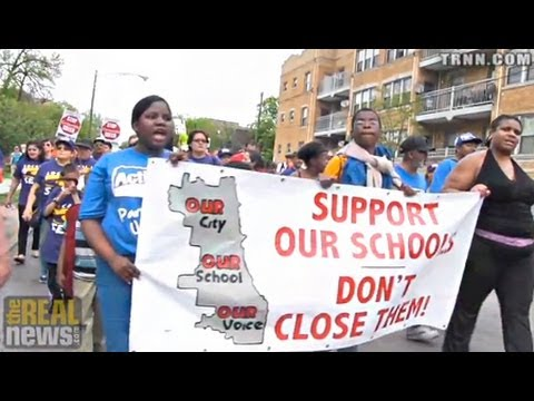 Chicago Teachers and Parents Launch Three Day March Against 54 School Closings