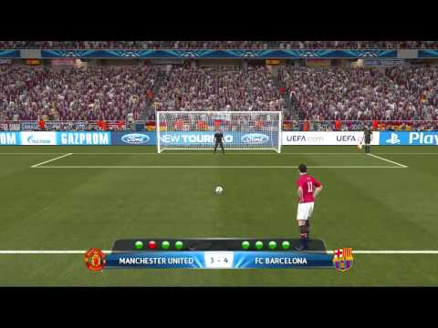 UEFA Champions League Final FC.Barcelona VS Manchester United Pro Evolution Soccer 2014 Gameplay HD