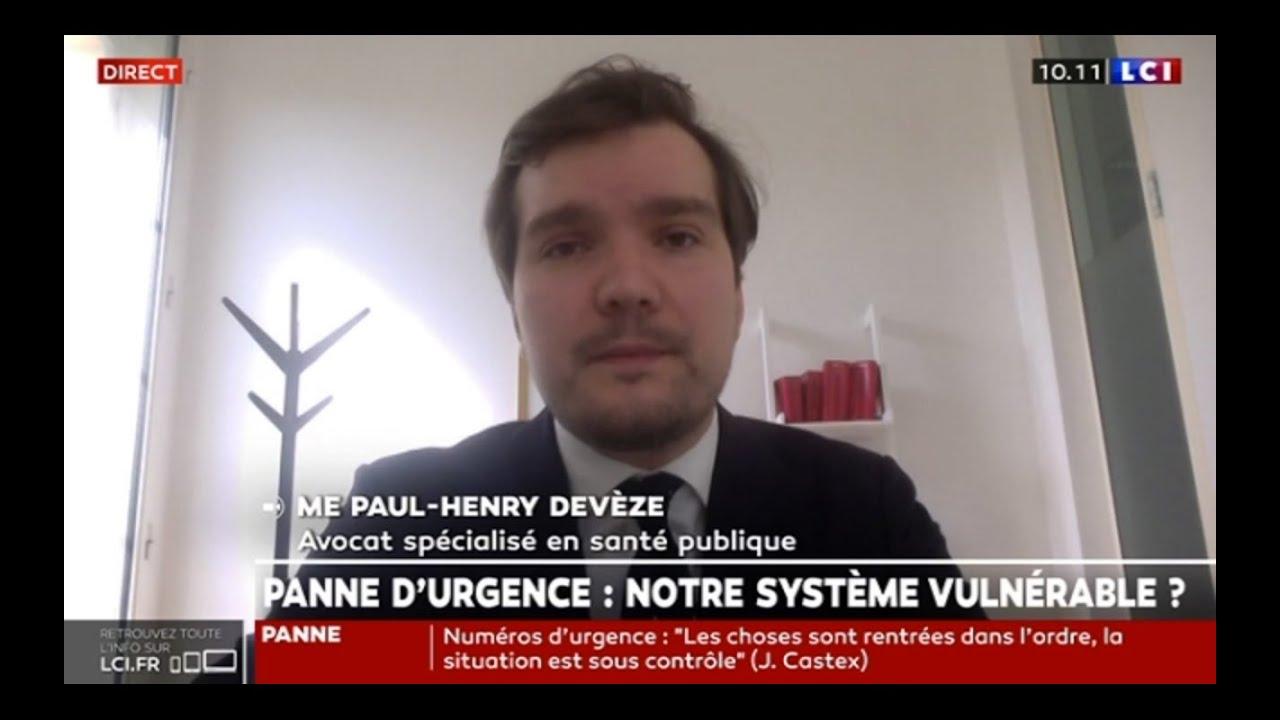 Interview LCI : Panne des numéros d'urgence : quelles conséquences juridiques ?
