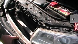 Renault Megane II - Снятие бампера и фары - Stossdämpfer, Scheinwerfer