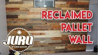 easy to make DIY reclaimed pallet wood wall - JURO Workshop