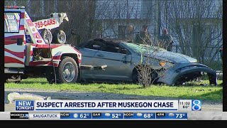Authorities: Wanted man arrested after chase, crash