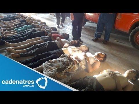 Oposición siria denuncia ataque de armas químicas contra civiles; prevén más de mil muertos