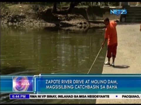 Zapote river drive at Molino dam, magsisilbing catch basin sa baha