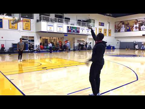 Bay Area News Group's Logan Murdock defeats ESPN's Chris Haynes in 3-Point Contest at GSW Facility