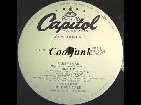 """Gene Dunlap - Party In Me (12"""" Jazz-Soul-Funk 1981)"""