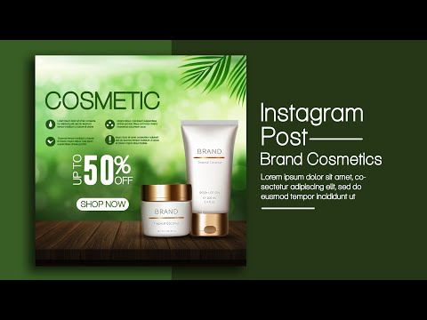 How to Create an Instagram Post Banner Design for Cosmetics | Photoshop Tutorials