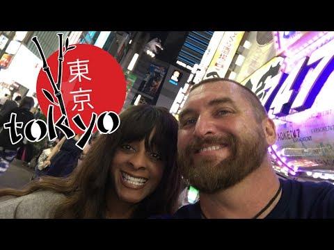 Tokyo Japan 2017, We ride the N'EX to Tokyo from Narita Airport the Narita express