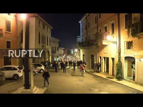 Italy: 700 protest against refugees in Soave