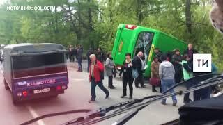 Видео последствий страшной аварии в Екатеринбурге, в которой пострадали 24 человека