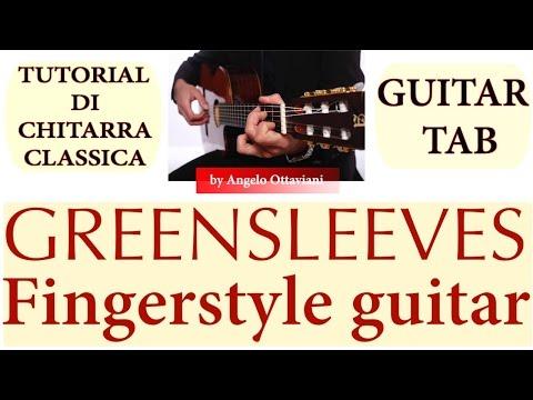 GREENSLEEVES - FINGERSTYLE - GUITAR TAB