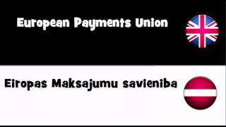 SAY IT IN 20 LANGUAGES = European Payments Union