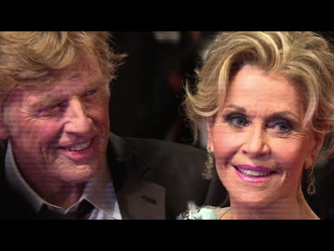 Redford and Fonda walk Venice red carpet for their latest film
