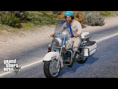 GTA 5 FRANKLIN PLAY AS A COP MOD #9 HIGHWAY PATROL