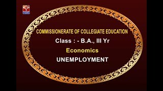 T-SAT || CCE || Economics - Unemployment || Live With K.Pravanya