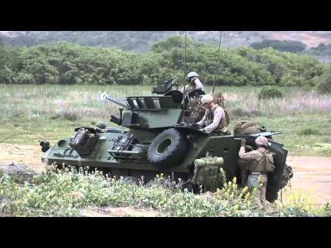 Marine Armored Cars in Action