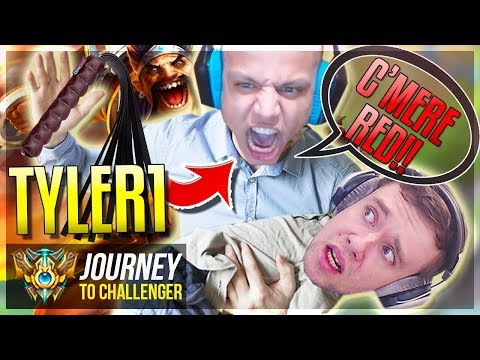 TYLER1 GOES FULL ALPHA ON ME..YIKES - Journey To Challenger | League of Legends